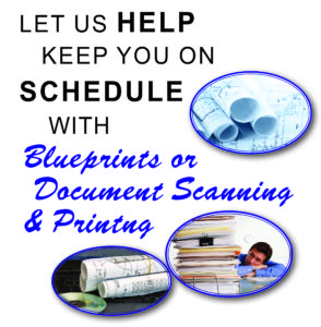 Blueprint or Document Scanning and Printing